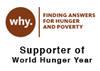 Supporter of World Hunger Year